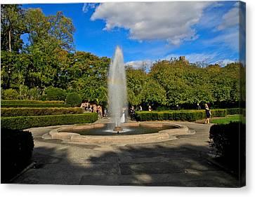The Fountain Canvas Print by Douglas Adams