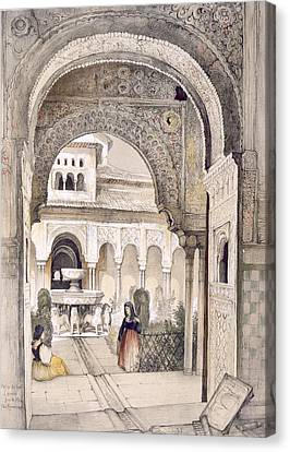 The Fountain Of The Lions Canvas Print by John Frederick Lewis