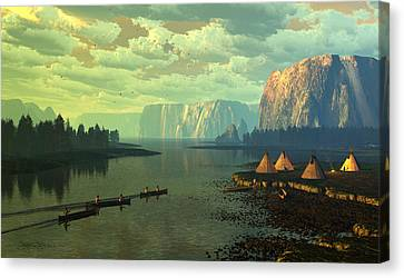 The Fountains Of Eden Canvas Print by Dieter Carlton