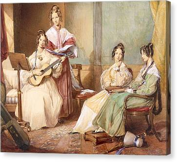 The Four Daughters Of Archbishop Canvas Print