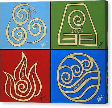 The Four Elements In Cy Lantyca Canvas Print by Cyryn Fyrcyd