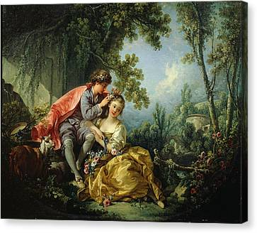 The Four Seasons. Spring Canvas Print by Francois Boucher