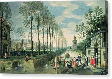 Towpath Canvas Print - The Four Seasons Spring  by Sebastian Vrancx