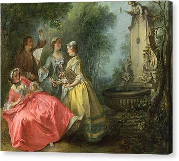 The Four Times Of Day. Midday Canvas Print by Nicolas Lancret