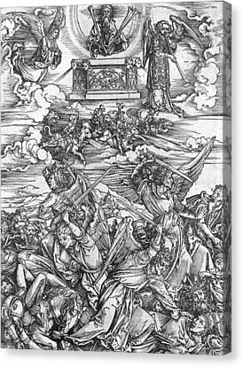 The Four Vengeful Angels Canvas Print by Albrecht Durer or Duerer