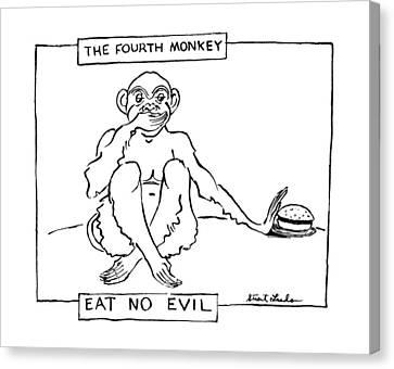 The Fourth Monkey Canvas Print