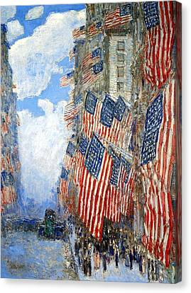 The Fourth Of July Canvas Print by Frederick Childe Hassam