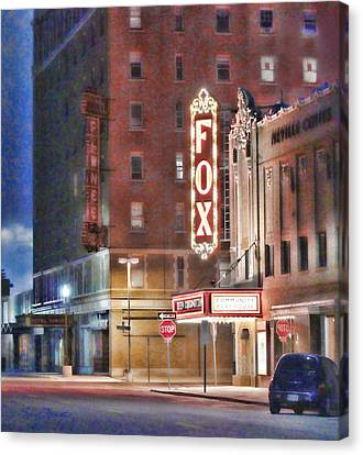 The Fox After The Show Canvas Print by Sylvia Thornton