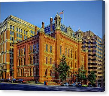 The Franklin School - Washington Dc Canvas Print by Mountain Dreams