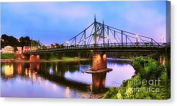 The Free Bridge Canvas Print by Mark Miller