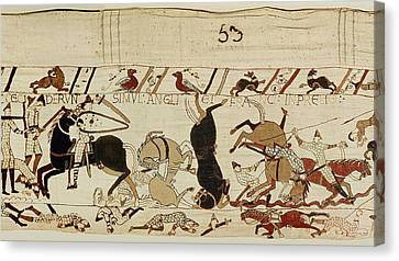 The Bayeux Tapestry Canvas Print by French School