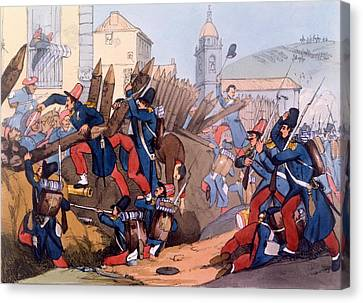 The French Legion Storming A Carlist Canvas Print