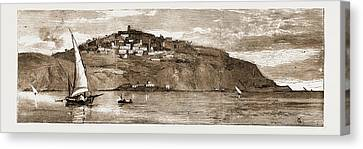 Historic Site Canvas Print - The French Occupation Of Tunis, 1881 The Village Of Saudi by Litz Collection