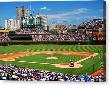 The Friendly Confines Canvas Print by James Kirkikis