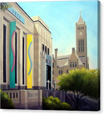Frist Center For The Visual Arts Canvas Print - The Frist Center by Janet King