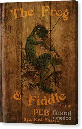 The Frog And Fiddle Pub Canvas Print by Cinema Photography