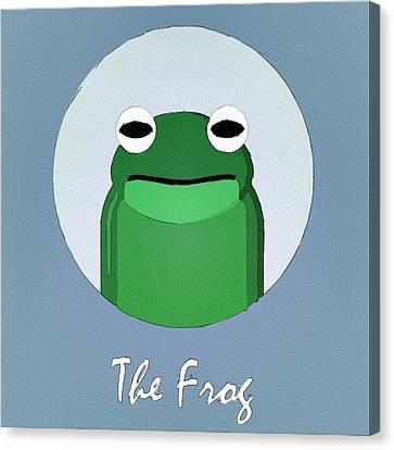 The Frog Cute Portrait Canvas Print by Florian Rodarte