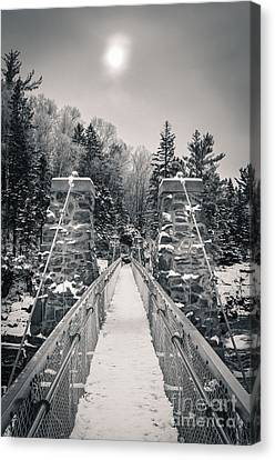 Canvas Print featuring the photograph The Frost Across by Mark David Zahn