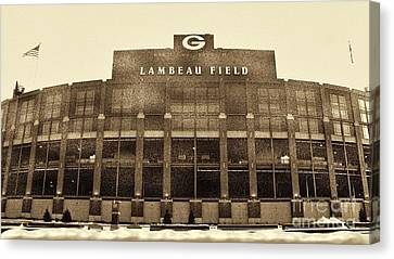 Lambeau Field Canvas Print - The Frozen Tundra by Tommy Anderson