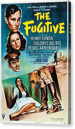 Dolores Canvas Print - The Fugitive, Us Poster Art, From Top by Everett