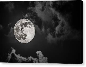 The Full Moon Is Calling Canvas Print by Andres Leon