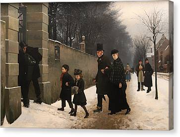 Policeman Canvas Print - The Funeral by Mountain Dreams