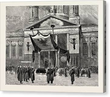 Berlin Canvas Print - The Funeral Of The Late Emperor William At Berlin by German School