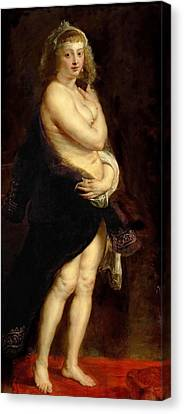 The Fur. Het Pelsken Canvas Print by Peter Paul Rubens