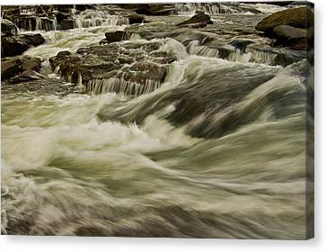 The Furry Of The River..... Canvas Print by Ulrich Burkhalter