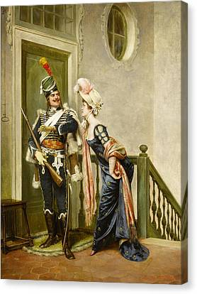 The Gallant Officer Canvas Print