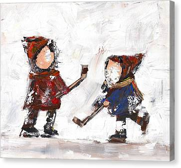 The Game Canvas Print by David Dossett