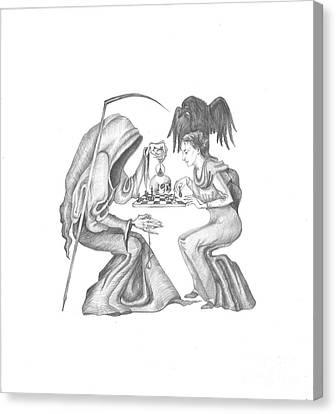 The Game Canvas Print by Margaryta Yermolayeva
