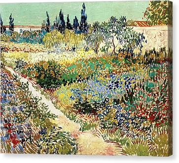The Garden At Arles, 1888 Canvas Print by Vincent van Gogh