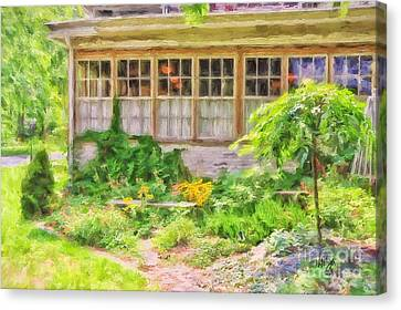 The Garden At Juniata Crossings Canvas Print by Lois Bryan