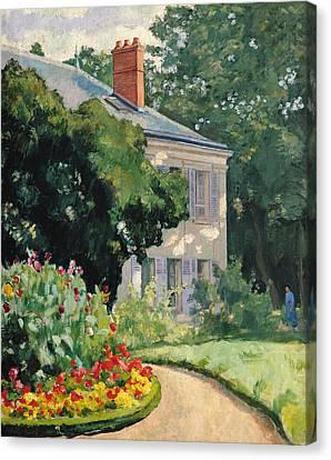 The Garden At Queue En Bri Canvas Print