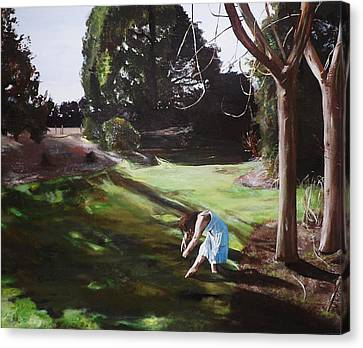 Canvas Print featuring the painting The Garden by Cherise Foster