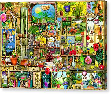 The Garden Cupboard Canvas Print by Colin Thompson