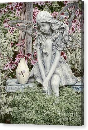 The Garden Fairy Canvas Print by Peggy Hughes
