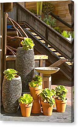 The Garden Gallery Morro Bay California Canvas Print by Barbara Snyder