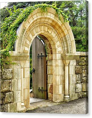 The Garden Gate Canvas Print by Jean Goodwin Brooks