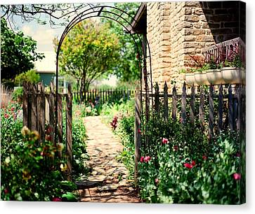 The Garden Gate Canvas Print by Linda Unger