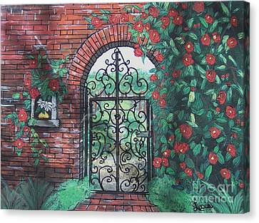 The Garden Gate Canvas Print by Lucia Grilletto