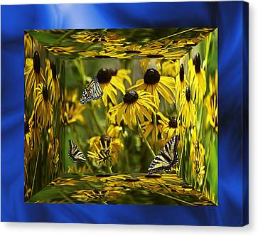 The Garden In Your Mind Canvas Print by Diane Schuster