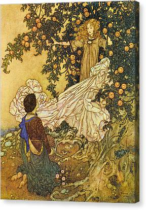 The Garden Of Paradise IIi Canvas Print by Edmund Dulac
