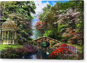 The Garden Of Peace Canvas Print by Dominic Davison