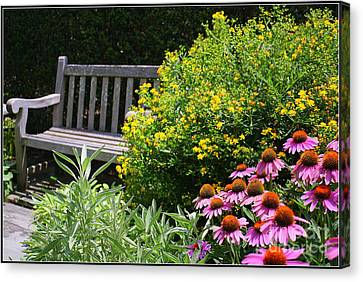 The Garden Of Tranquility Canvas Print by Dora Sofia Caputo Photographic Design and Fine Art