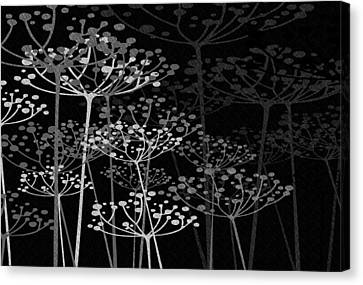 The Garden Of Your Mind Bw Canvas Print by Angelina Vick