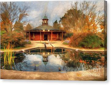 The Garden Pavilion Canvas Print by Darren Fisher