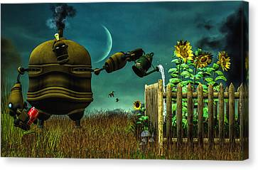 Contemplation Canvas Print - The Gardener by Bob Orsillo