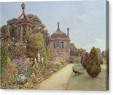 The Gardens At Montacute In Somerset Canvas Print by Ernest Arthur Rowe